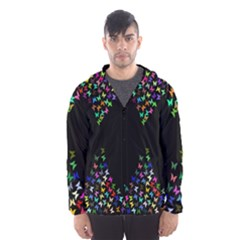 Space Butterflies Hooded Wind Breaker (men)