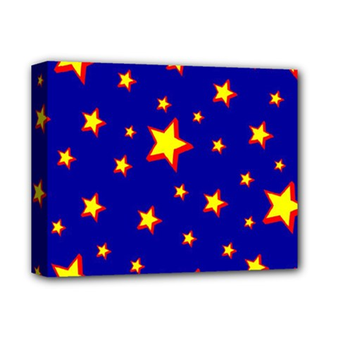 Star Blue Sky Yellow Deluxe Canvas 14  X 11  by AnjaniArt