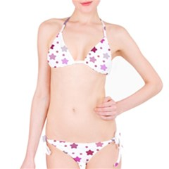 Star Purple Bikini Set