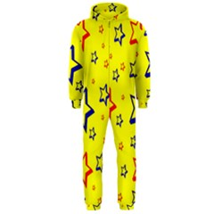 Star Yellow Red Blue Hooded Jumpsuit (men)
