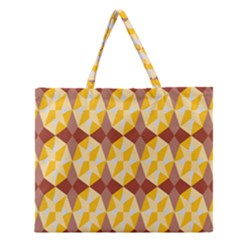 Star Brown Yellow Light Zipper Large Tote Bag by AnjaniArt