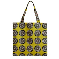 Sunflower Zipper Grocery Tote Bag