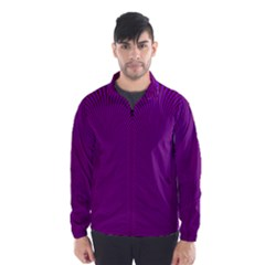 Stripy Purple Wind Breaker (men)