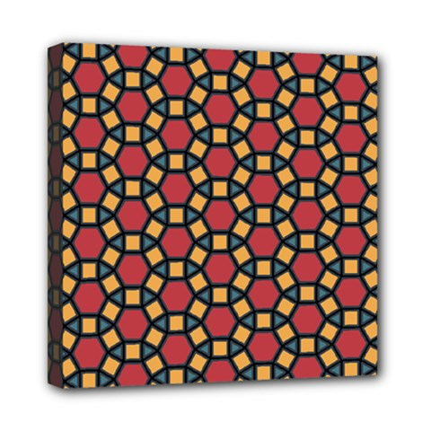 Tiling Flower Star Red Mini Canvas 8  X 8