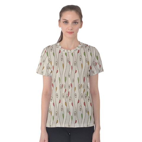 Flower Floral Leaf Women s Cotton Tee by AnjaniArt