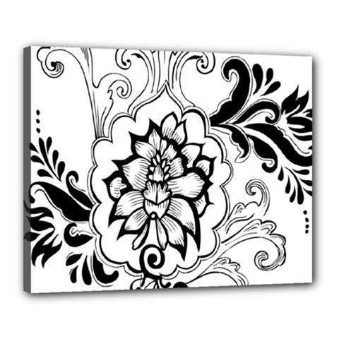Free Floral Decorative Canvas 20  X 16  by AnjaniArt