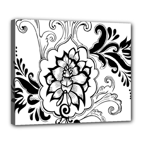 Free Floral Decorative Deluxe Canvas 24  X 20   by AnjaniArt