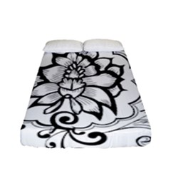Free Floral Decorative Fitted Sheet (full/ Double Size) by AnjaniArt