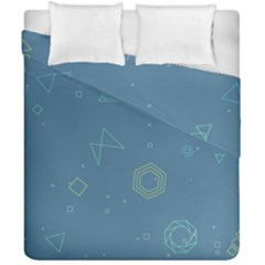Geometric Debris In Space Blue Duvet Cover Double Side (california King Size) by AnjaniArt