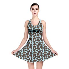 Giraffe Skin Animals Reversible Skater Dress