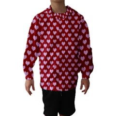 Hearts Love Valentine Pink Day Happy Wallpaper Hooded Wind Breaker (kids) by AnjaniArt