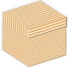 Horizontal Stripes Orange Storage Stool 12