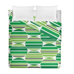 Mint Green Duvet Cover Double Side (full/ Double Size) by AnjaniArt