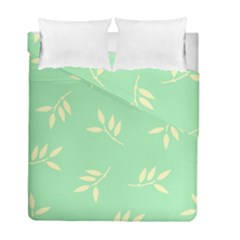 Pastel Leaves Duvet Cover Double Side (full/ Double Size)