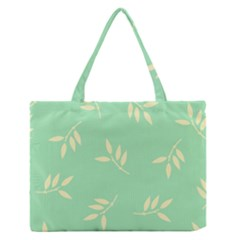 Pastel Leaves Medium Zipper Tote Bag by AnjaniArt