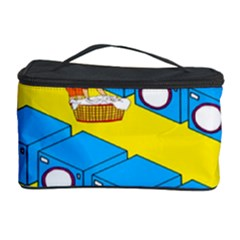 Machine Washing Clothes Blue Yellow Dirty Cosmetic Storage Case