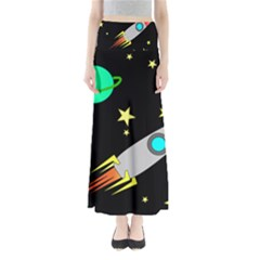 Planet Saturn Rocket Star Maxi Skirts