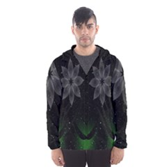 Night Sky Flower Hooded Wind Breaker (men) by AnjaniArt