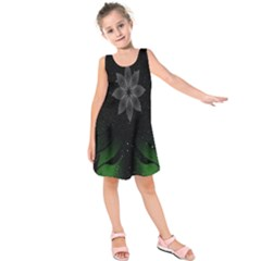 Night Sky Flower Kids  Sleeveless Dress