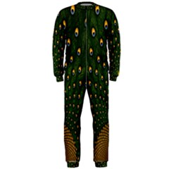 Peacock Feathers Green Onepiece Jumpsuit (men)