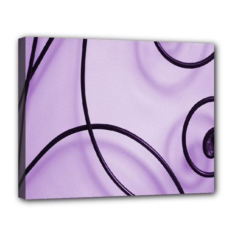 Purple Background With Ornate Metal Criss Crossing Lines Canvas 14  X 11