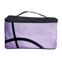 Purple Background With Ornate Metal Criss Crossing Lines Cosmetic Storage Case by AnjaniArt