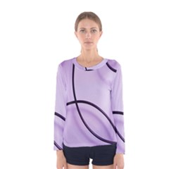 Purple Background With Ornate Metal Criss Crossing Lines Women s Long Sleeve Tee