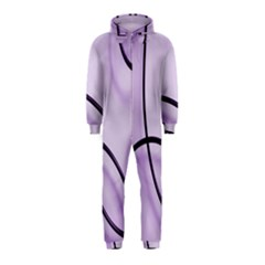 Purple Background With Ornate Metal Criss Crossing Lines Hooded Jumpsuit (kids)