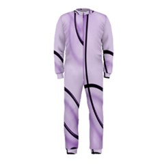 Purple Background With Ornate Metal Criss Crossing Lines Onepiece Jumpsuit (kids)