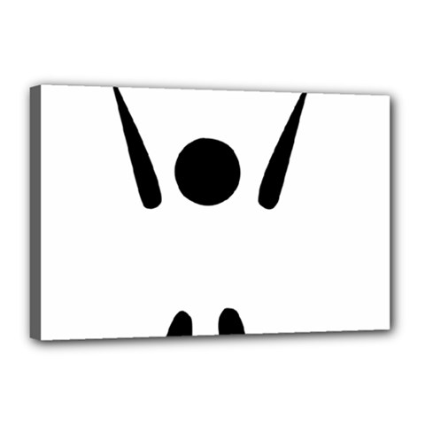 Air Sports Pictogram Canvas 18  X 12  by abbeyz71