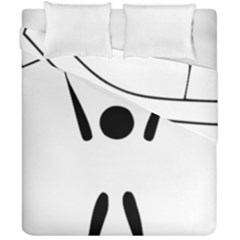 Air Sports Pictogram Duvet Cover Double Side (california King Size) by abbeyz71