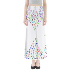 Prismatic Negative Space Butterflies Maxi Skirts