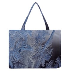 Frost Leafe Medium Zipper Tote Bag by AnjaniArt
