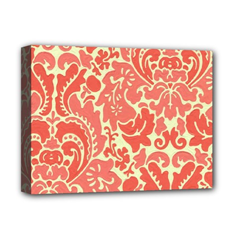 Red Floral Deluxe Canvas 16  X 12