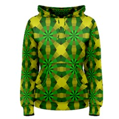 Background Colour Circle Yellow Green Women s Pullover Hoodie