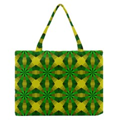 Background Colour Circle Yellow Green Medium Zipper Tote Bag by AnjaniArt