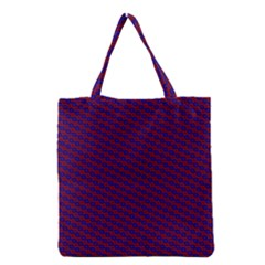 Chain Blue Red Woven Fabric Grocery Tote Bag