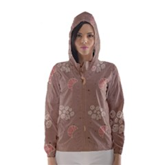 Bread Cake Brown Hooded Wind Breaker (women)