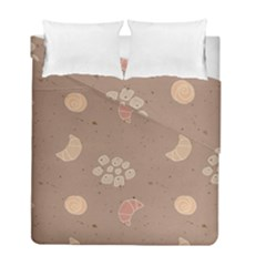 Bread Cake Brown Duvet Cover Double Side (full/ Double Size) by AnjaniArt
