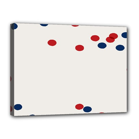 Circle Red Blue Canvas 16  X 12  by AnjaniArt