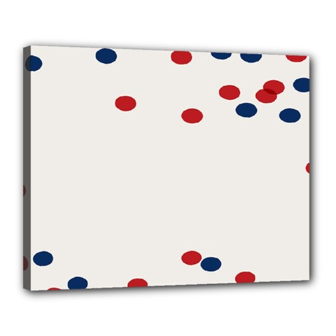 Circle Red Blue Canvas 20  X 16  by AnjaniArt