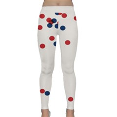 Circle Red Blue Classic Yoga Leggings