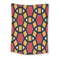 Circle Ball Red Yellow Medium Tapestry by AnjaniArt