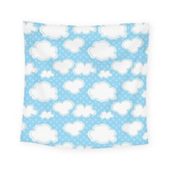Cloud Blue Sky Square Tapestry (small)