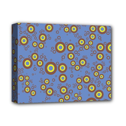 Circle Purple Yellow Deluxe Canvas 14  X 11  by AnjaniArt