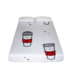 Coffee Cup Glass Fitted Sheet (full/ Double Size) by AnjaniArt