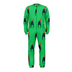 Comb Disco Green Onepiece Jumpsuit (kids) by AnjaniArt