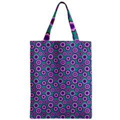 Clipart Floral Pattern Flower Purple Green Zipper Classic Tote Bag by AnjaniArt