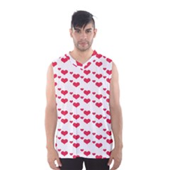 Heart Love Pink Valentine Day Men s Basketball Tank Top by AnjaniArt