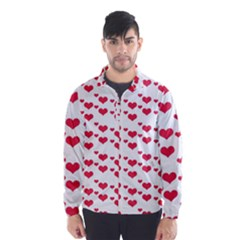 Heart Love Pink Valentine Day Wind Breaker (men) by AnjaniArt